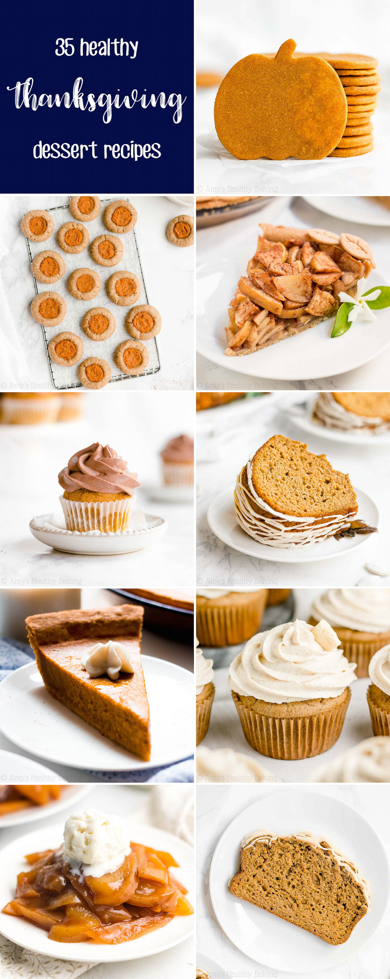35 Best Easy Healthy Clean Eating Low Calorie Thanksgiving Dessert Recipes