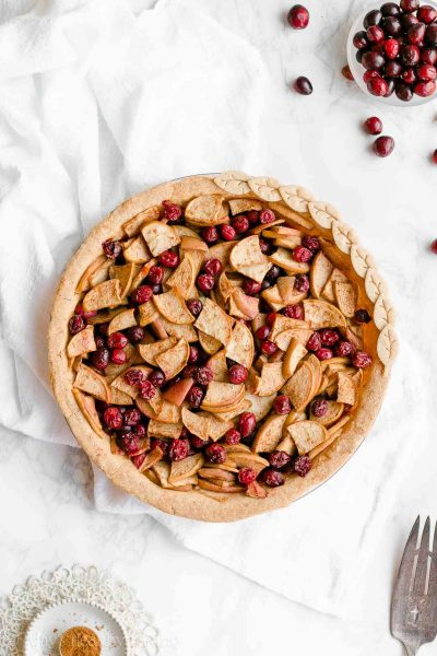 Healthy Cranberry Apple Pie