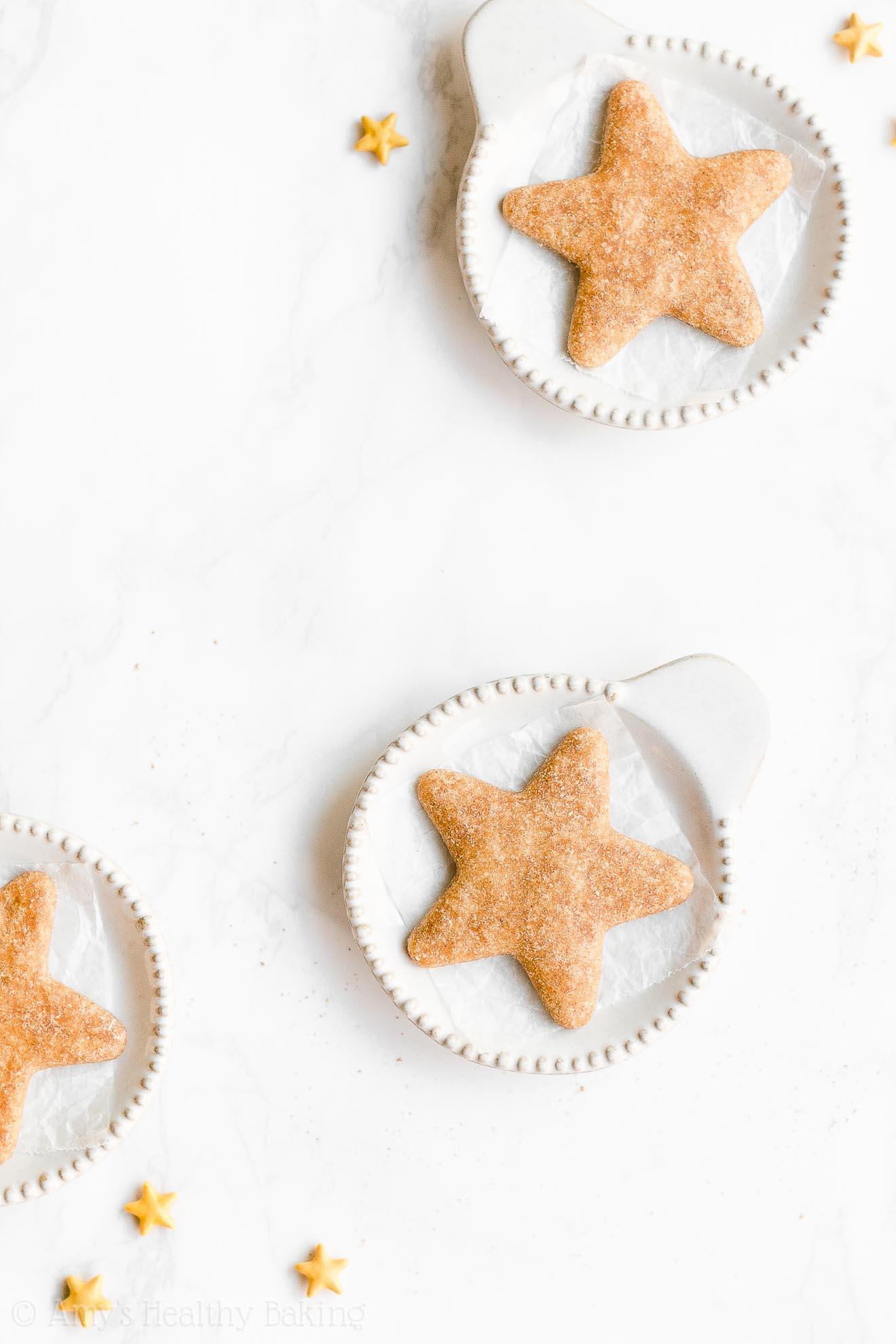 Easy Healthy Vegan Gluten Free Low Fat Eggnog Sugar Cookies