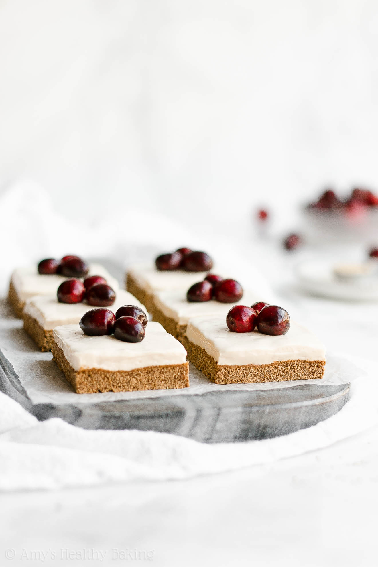 Easy Healthy Low Calorie Gluten Free Chewy Gingerbread Cookie Bars