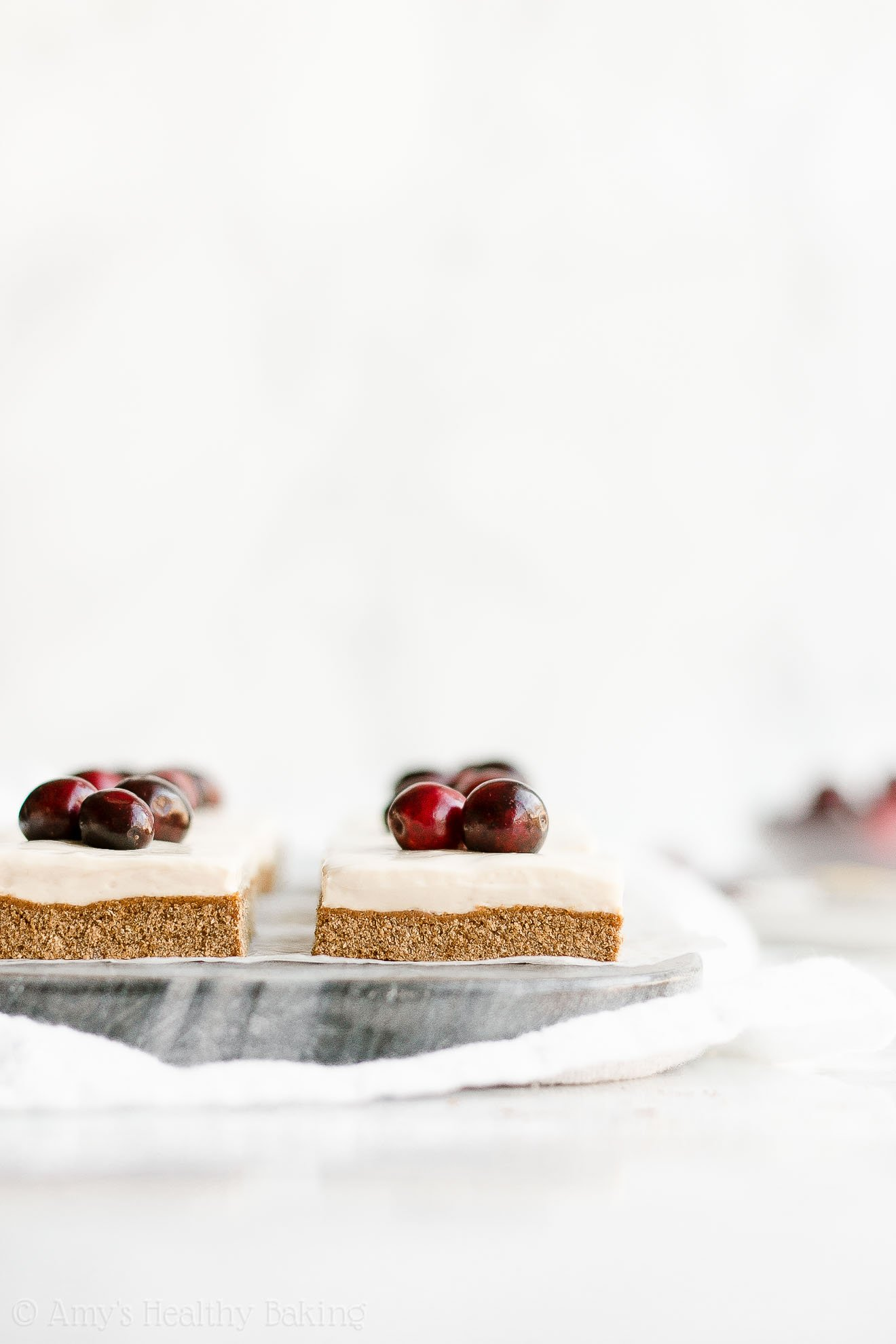 Easy Healthy Clean Eating Whole Wheat Molasses Gingerbread Cookie Bars