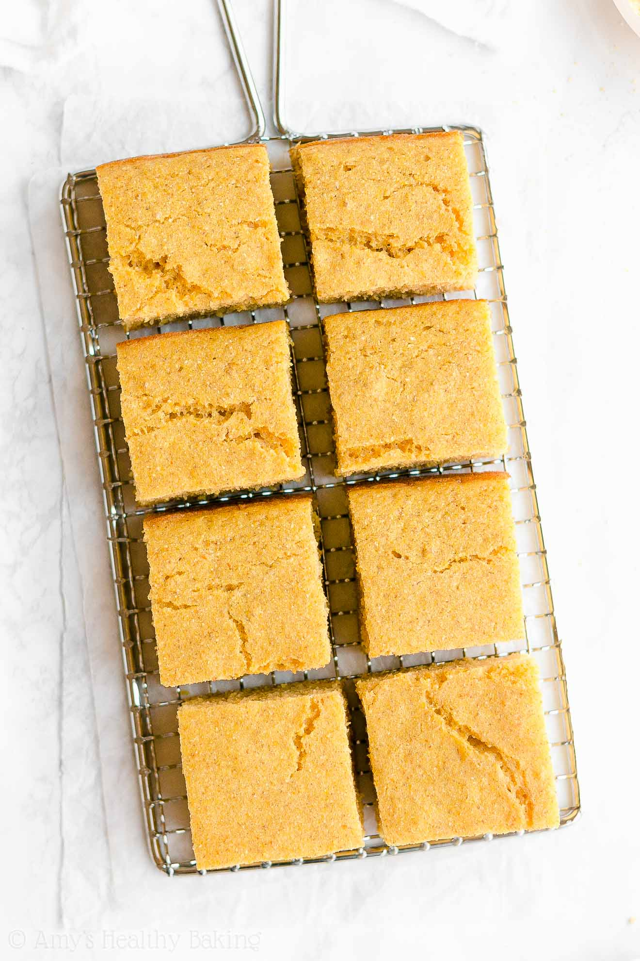 Easy Moist Low Fat Low Sugar Healthy One-Bowl Cornbread