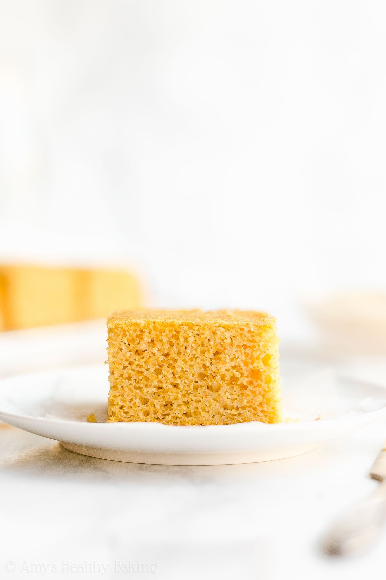 Easy Moist Healthy Clean Eating Greek Yogurt One-Bowl Cornbread