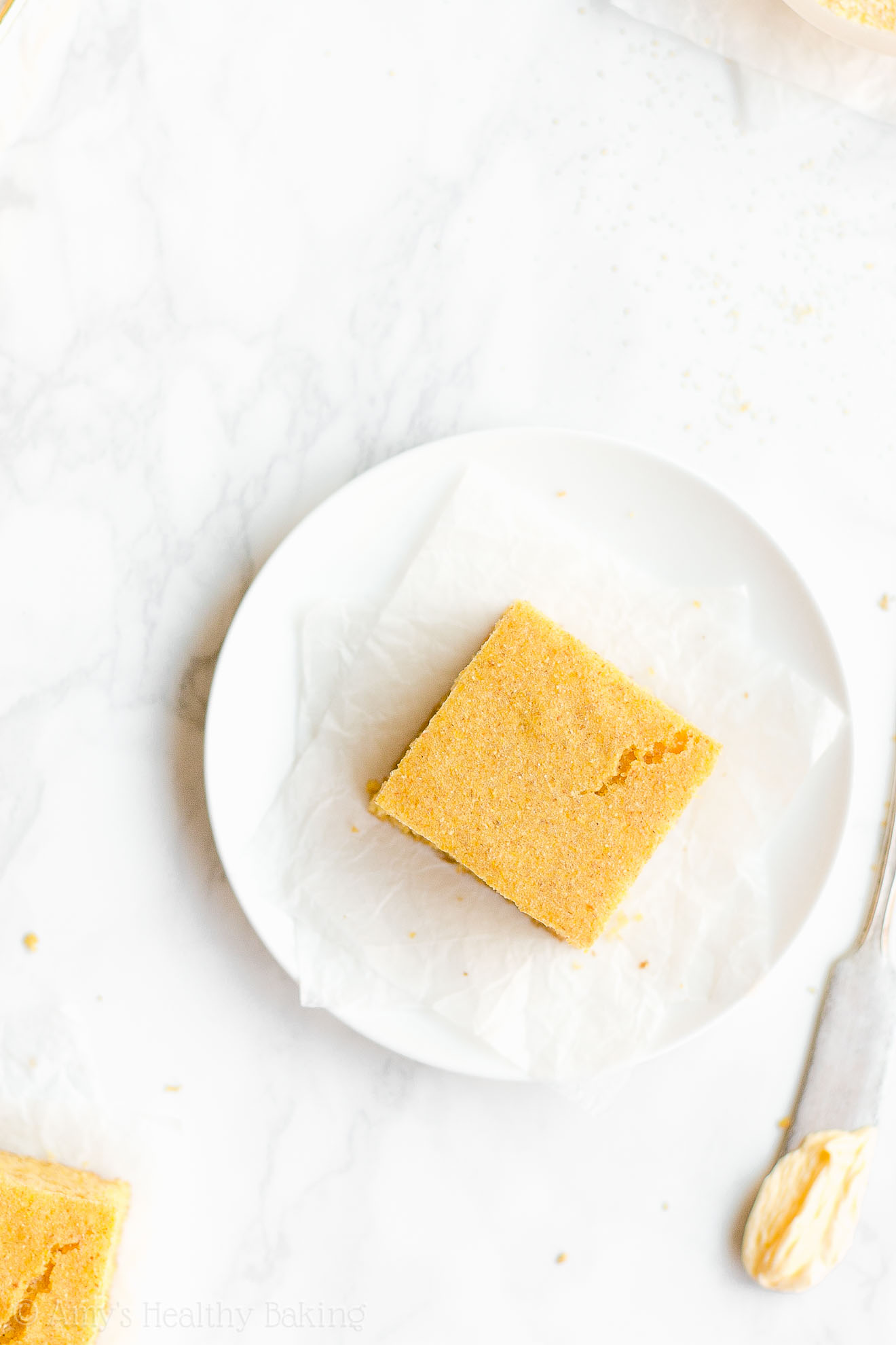 Simple Healthy Clean Eating Greek Yogurt One-Bowl Cornbread