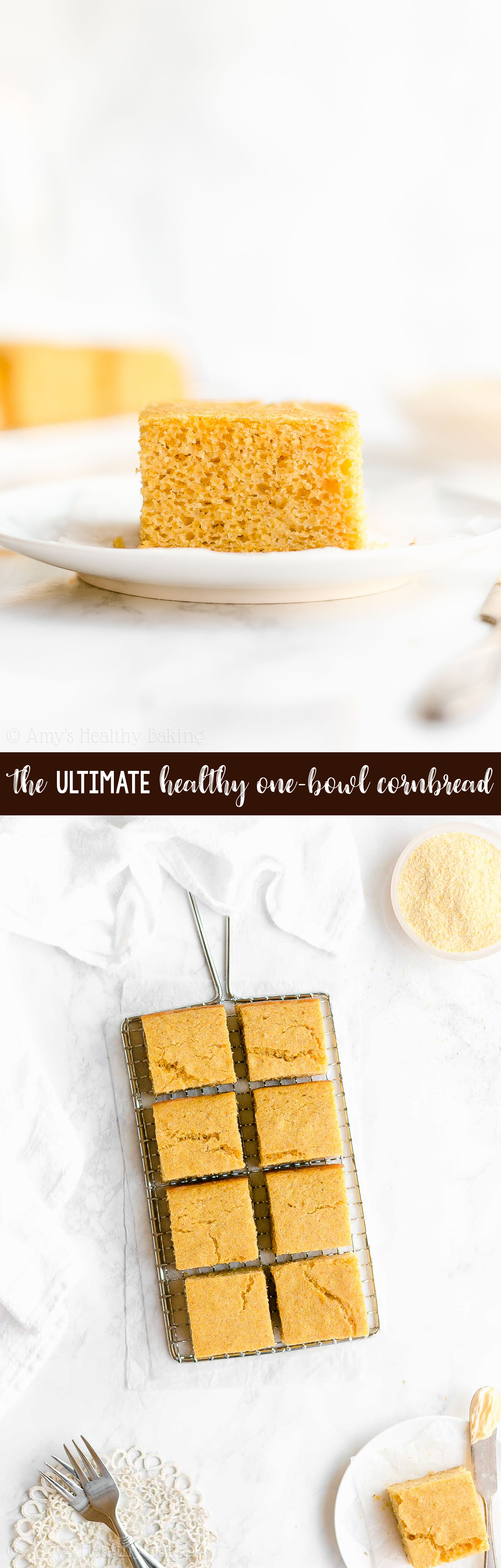 Best Ever Healthy Clean Eating Greek Yogurt No Sugar One-Bowl Cornbread