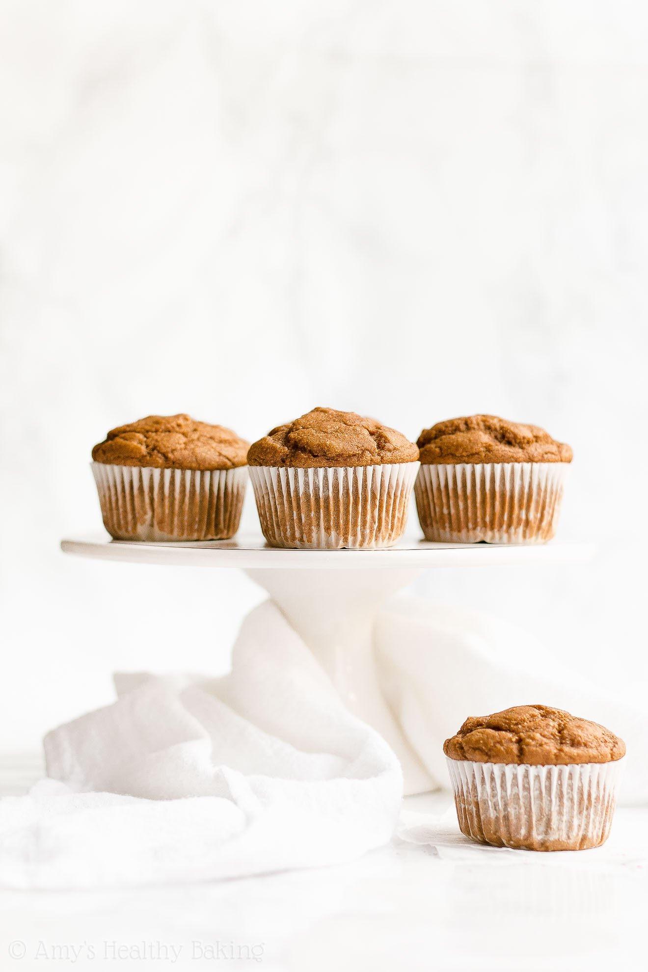 Easy Healthy Low Fat Low Sugar One-Bowl Gingerbread Muffins