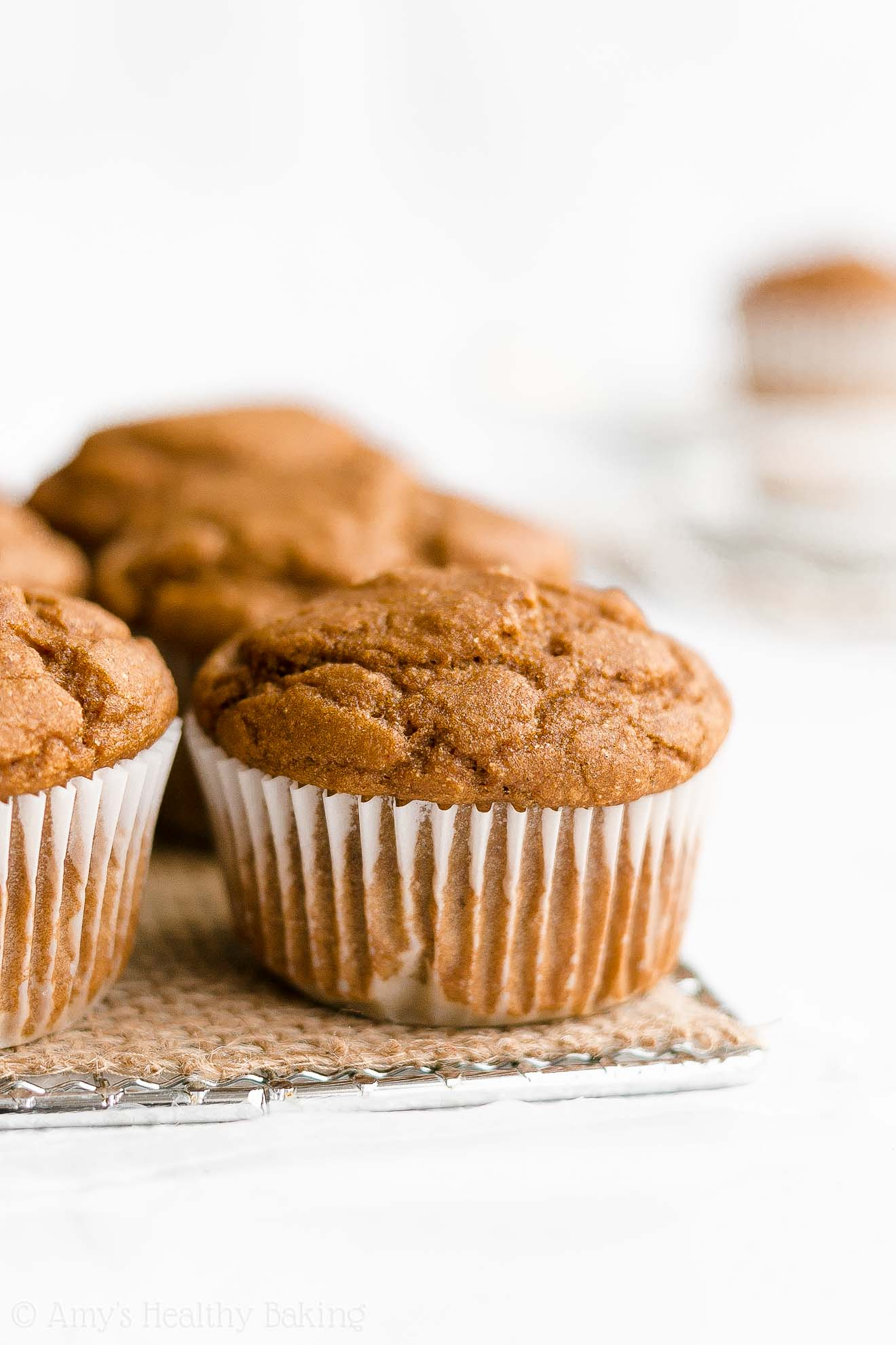 Easy Healthy Low Calorie Gluten Free One-Bowl Gingerbread Muffins