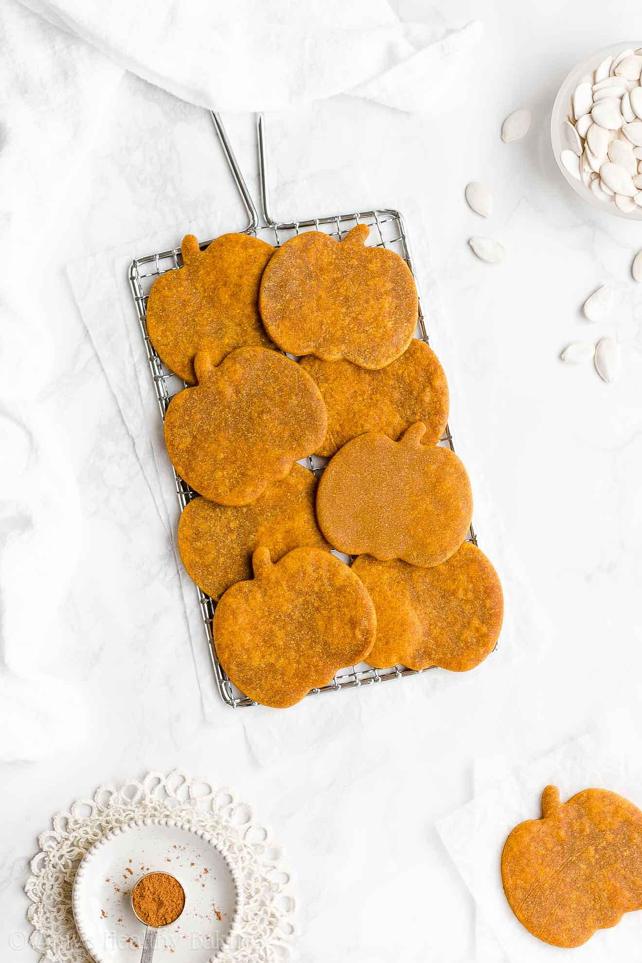 Best Healthy Whole Wheat Low Sugar Pumpkin Sugar Cookies