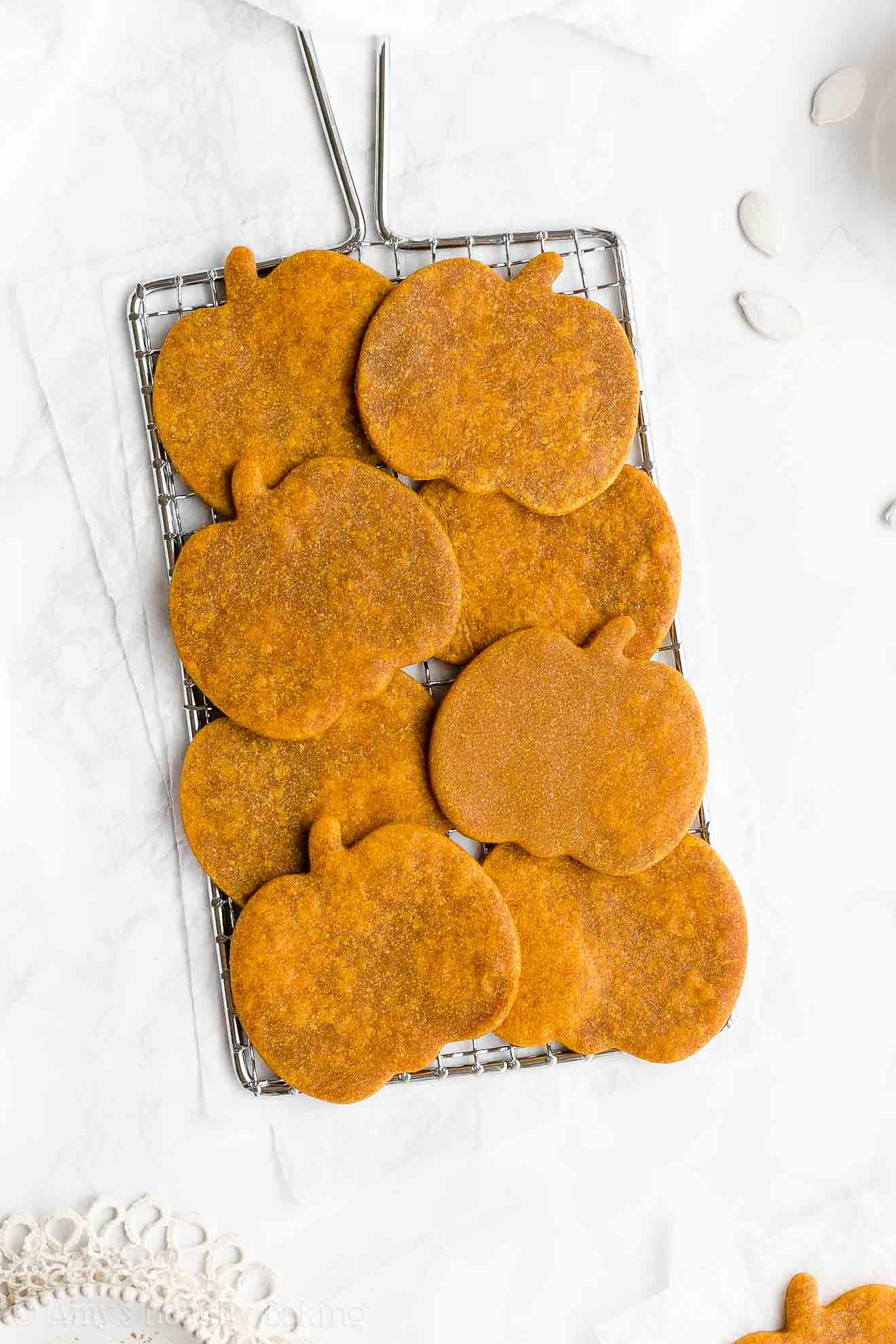 Best Healthy Soft Chewy Gluten Free Sugar Free Pumpkin Sugar Cookies