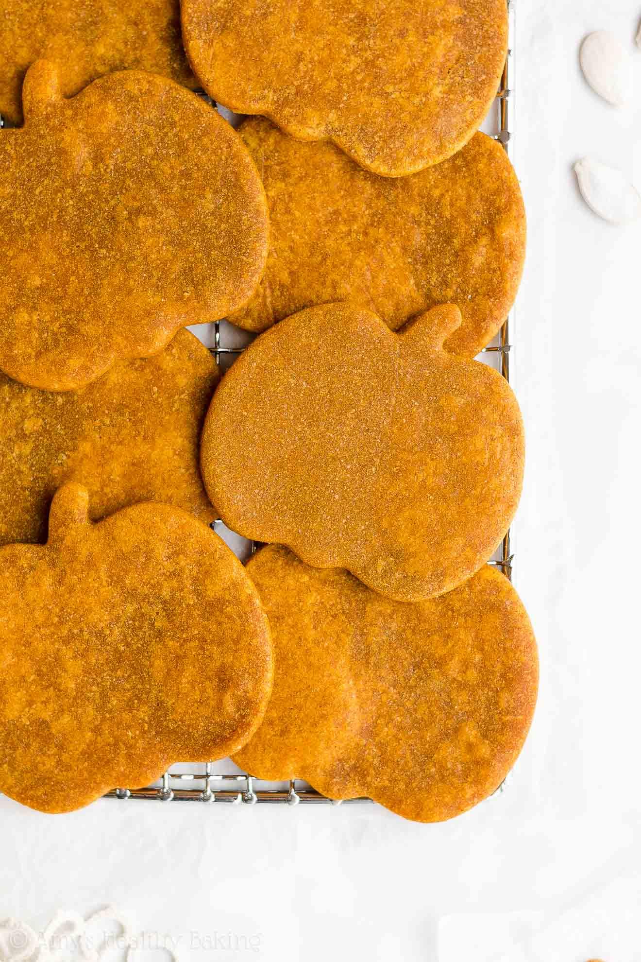Best Easy Healthy Clean Eating Vegan Soft Whole Wheat Pumpkin Sugar Cookies