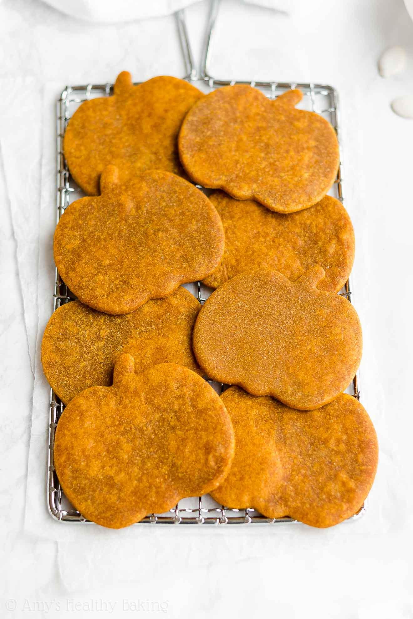 Best Easy Healthy Low Fat Low Sugar Vegan Soft Pumpkin Sugar Cookies