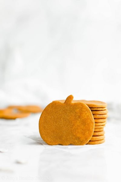 Healthy Pumpkin Sugar Cookies