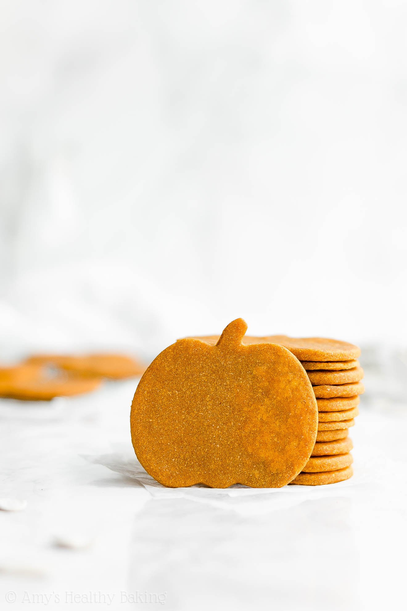 Easy Healthy Soft Chewy Cut Out Pumpkin Sugar Cookies
