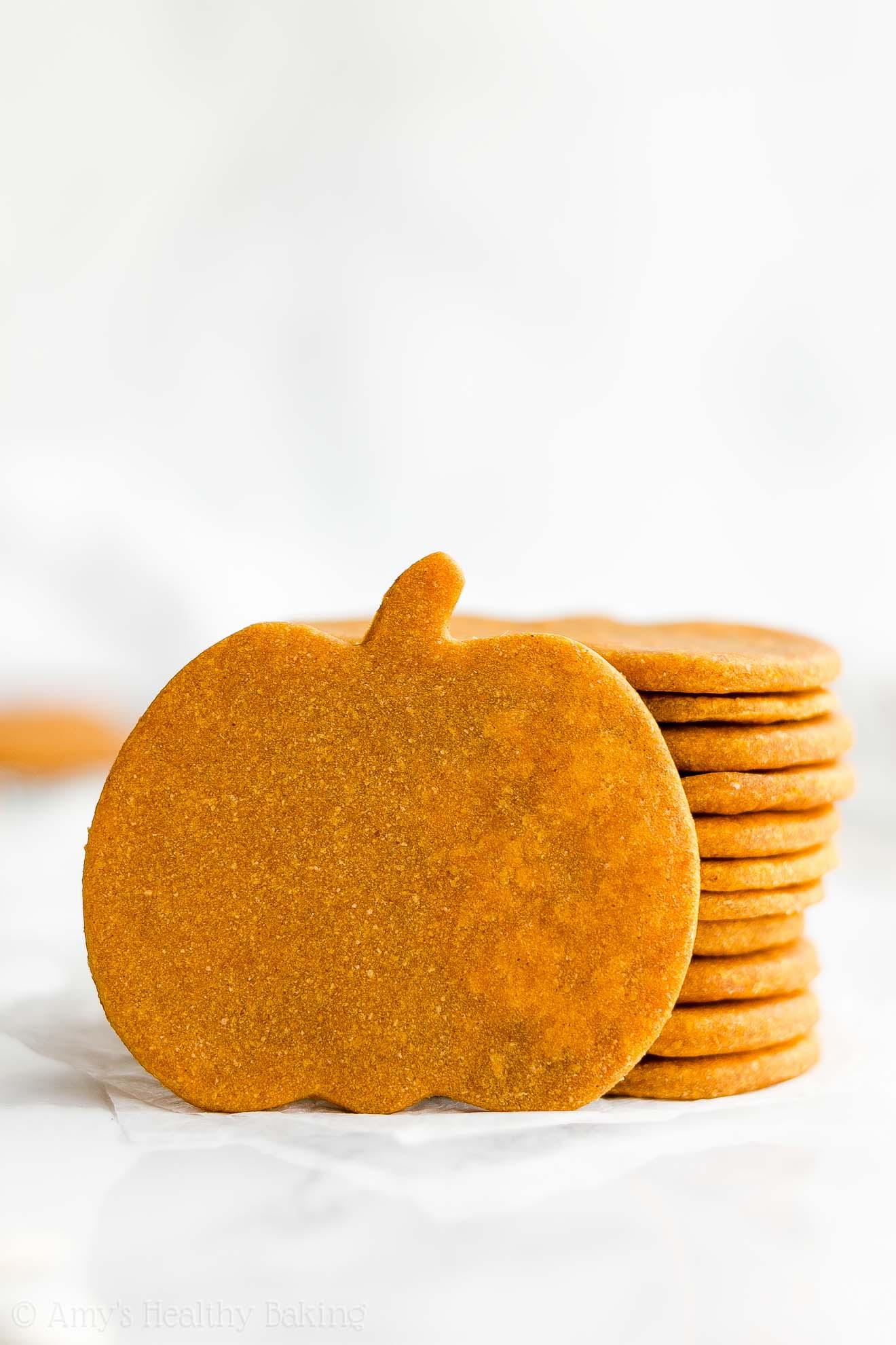 Ultimate Healthy Homemade Soft Chewy Low Sugar Pumpkin Sugar Cookies