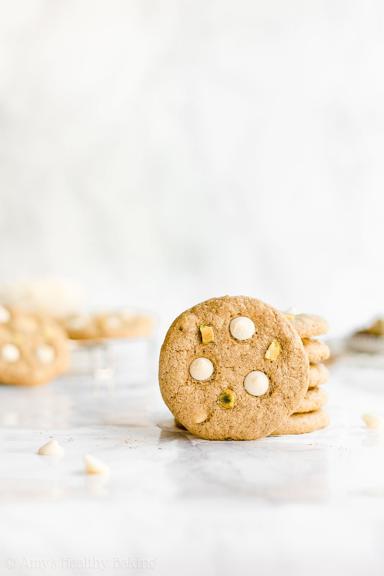 Best Healthy Chewy Spiced White Chocolate Pistachio Cookies with Sea Salt