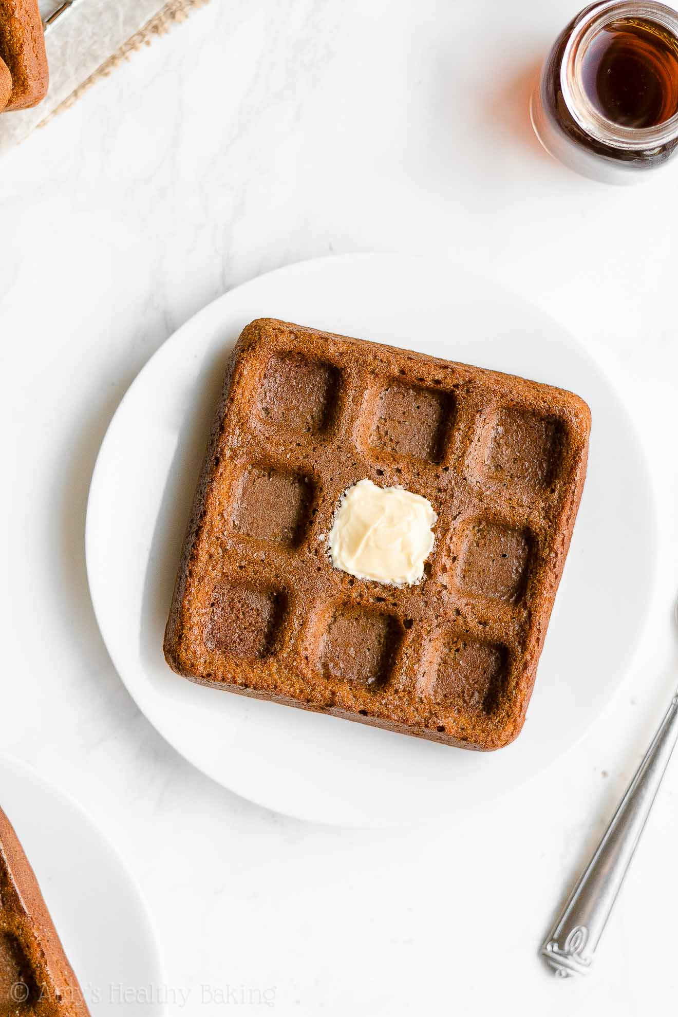 Easy Healthy Clean Eating Low Calorie Homemade Gingerbread Waffles