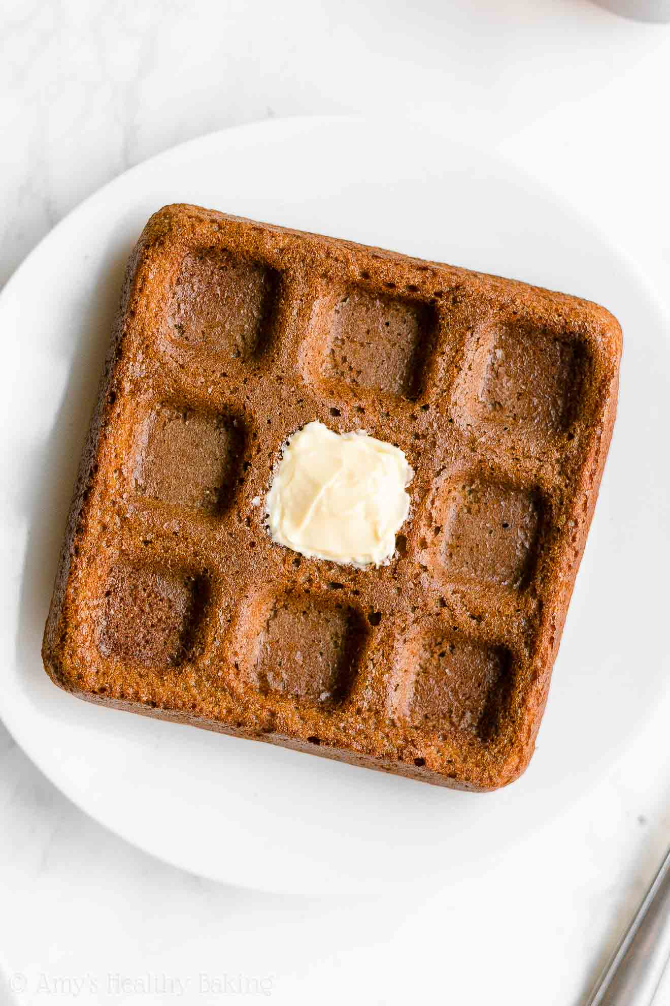 Easy Healthy Clean Eating Gluten Free Crispy Fluffy Gingerbread Waffles