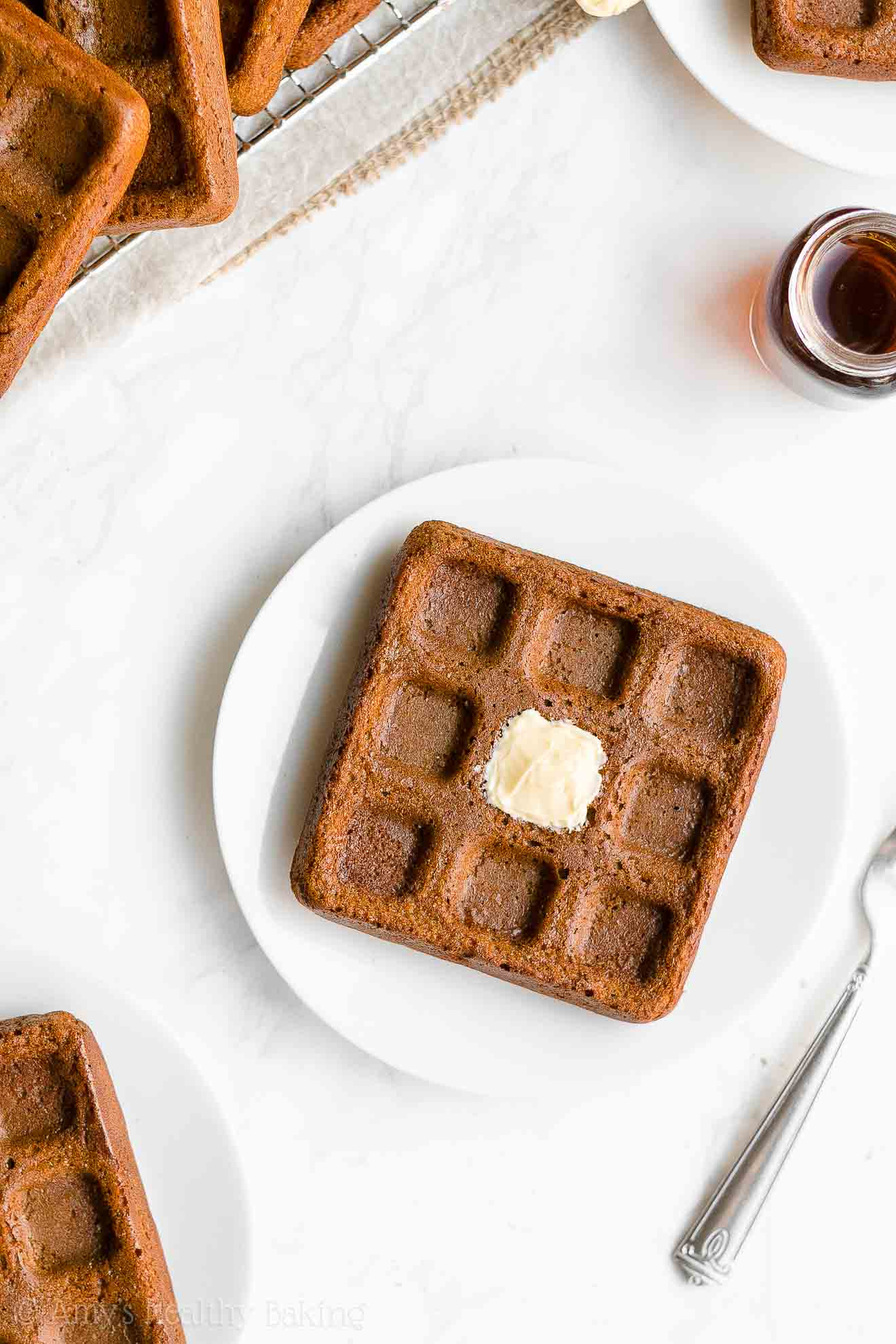 Best Easy Healthy Gingerbread Waffles with Weight Watchers Points