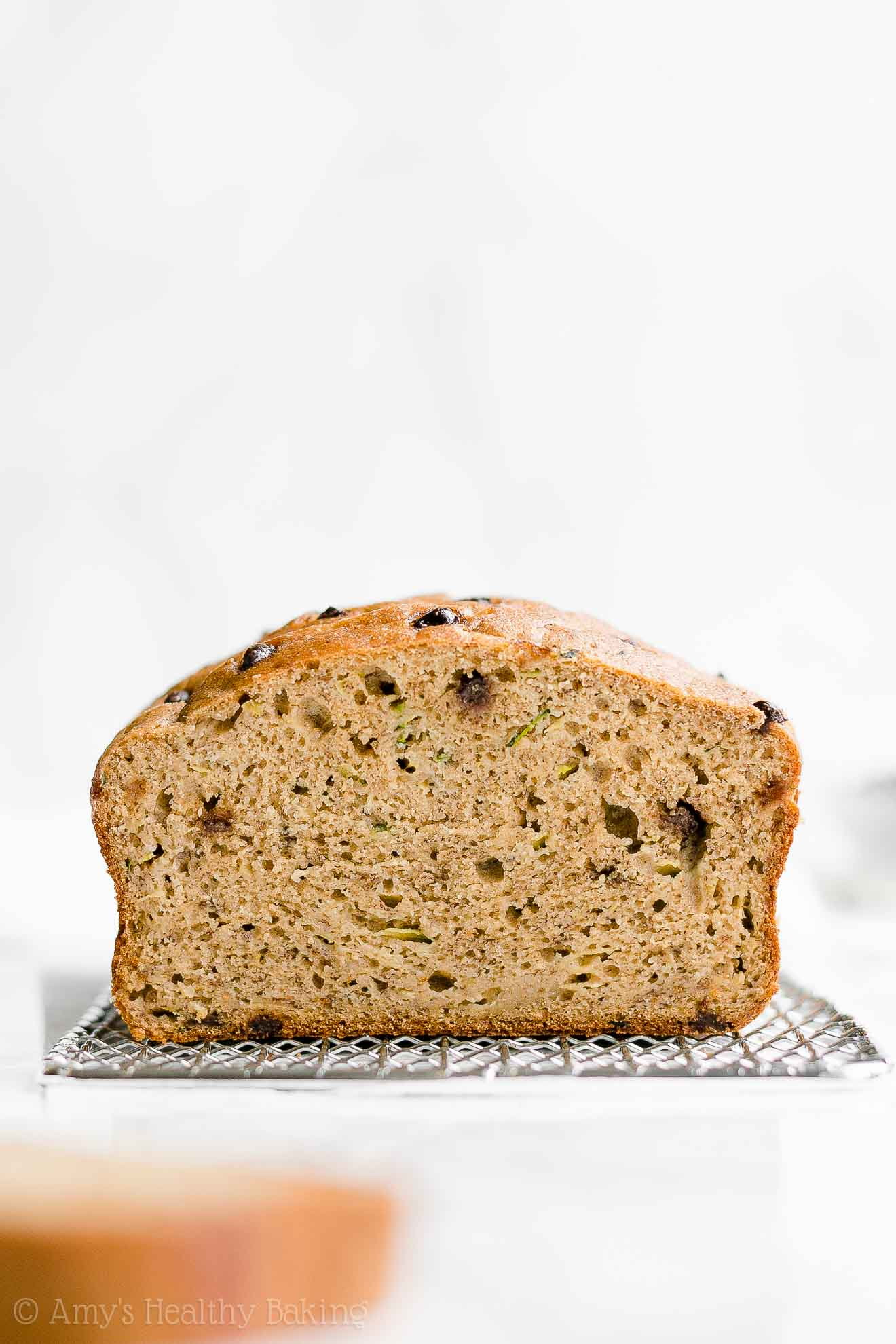 Easy Healthy Clean Eating Greek Yogurt Chocolate Chip Zucchini Banana Bread