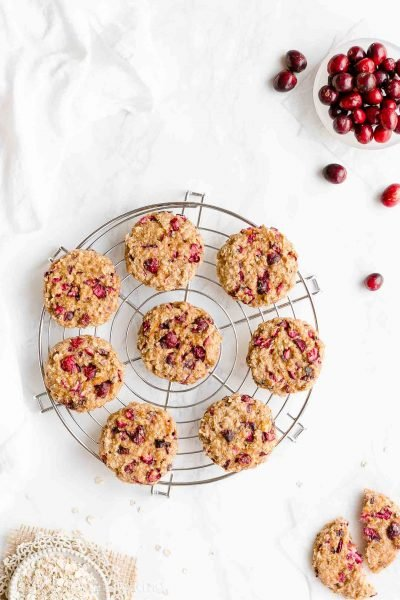 Healthy Cranberry Orange Oatmeal Cookies