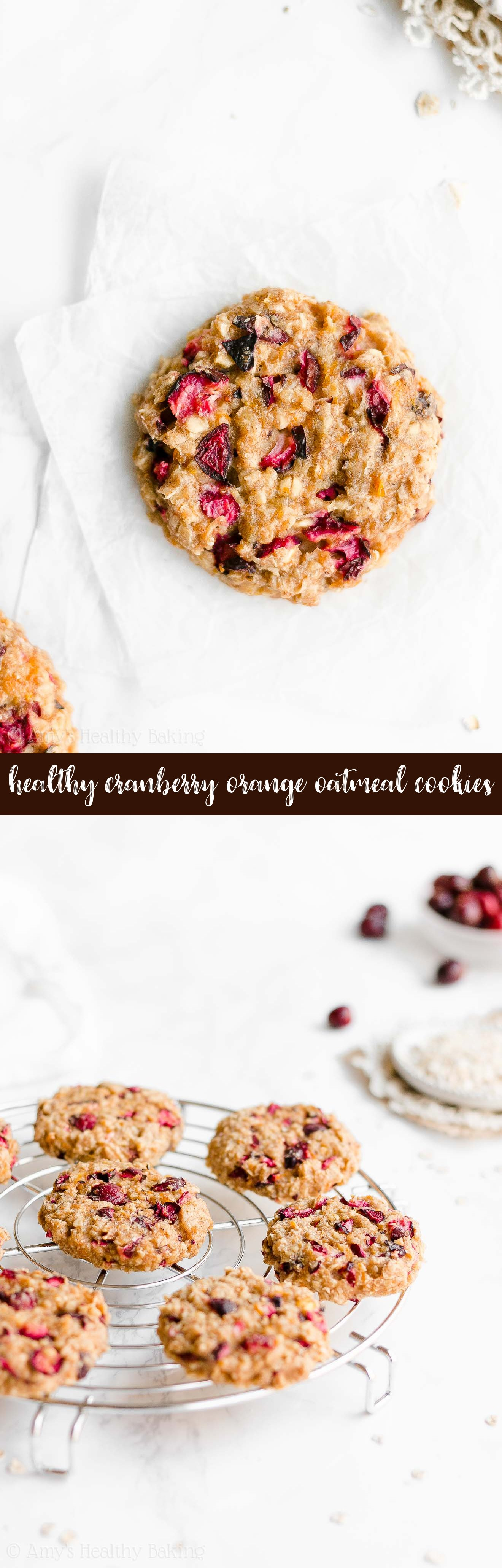 Best Ever Easy Healthy Chewy Fresh Cranberry Orange Oatmeal Cookies