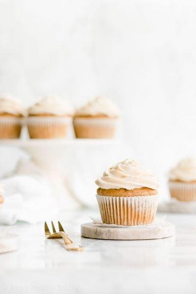 Healthy Eggnog Cupcakes