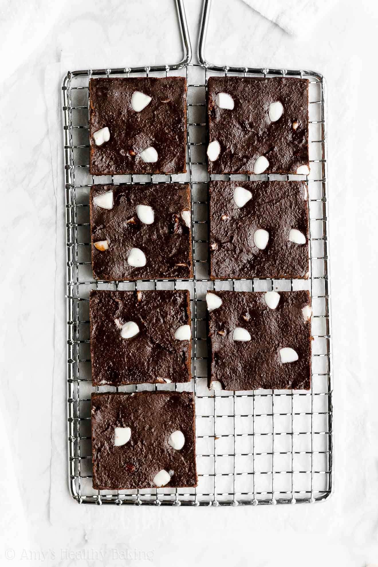 Best Simple Healthy Greek Yogurt Chewy Fudgy White Chocolate Chip Brownies