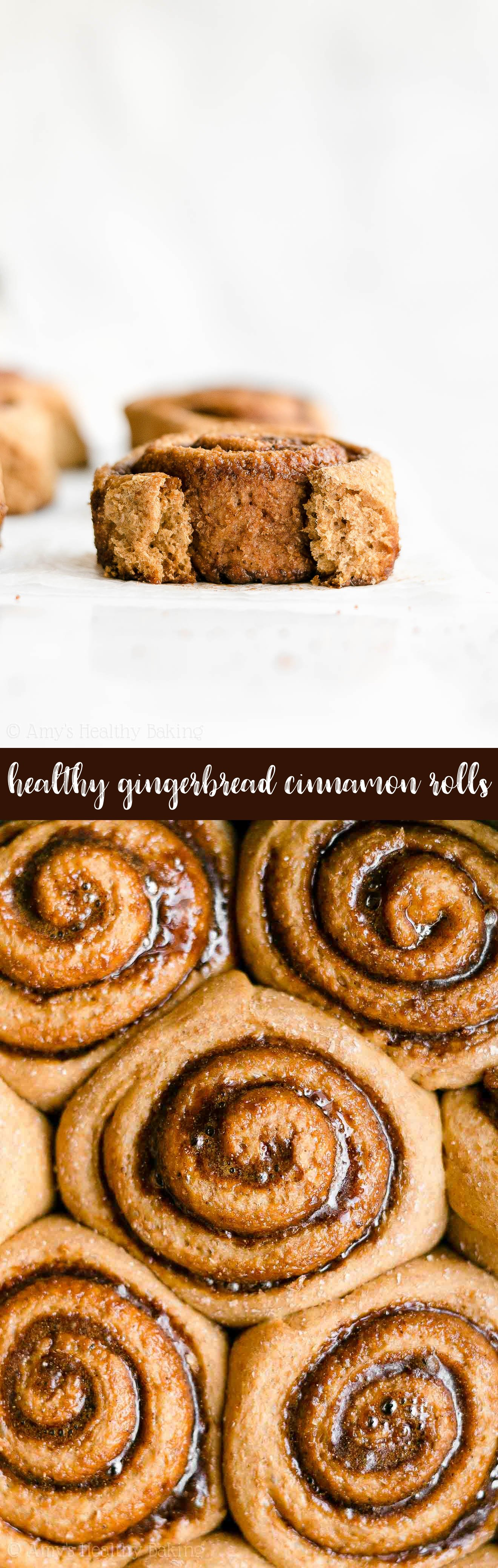 Best Ever Healthy Homemade Clean Eating Low Calorie Gingerbread Cinnamon Rolls