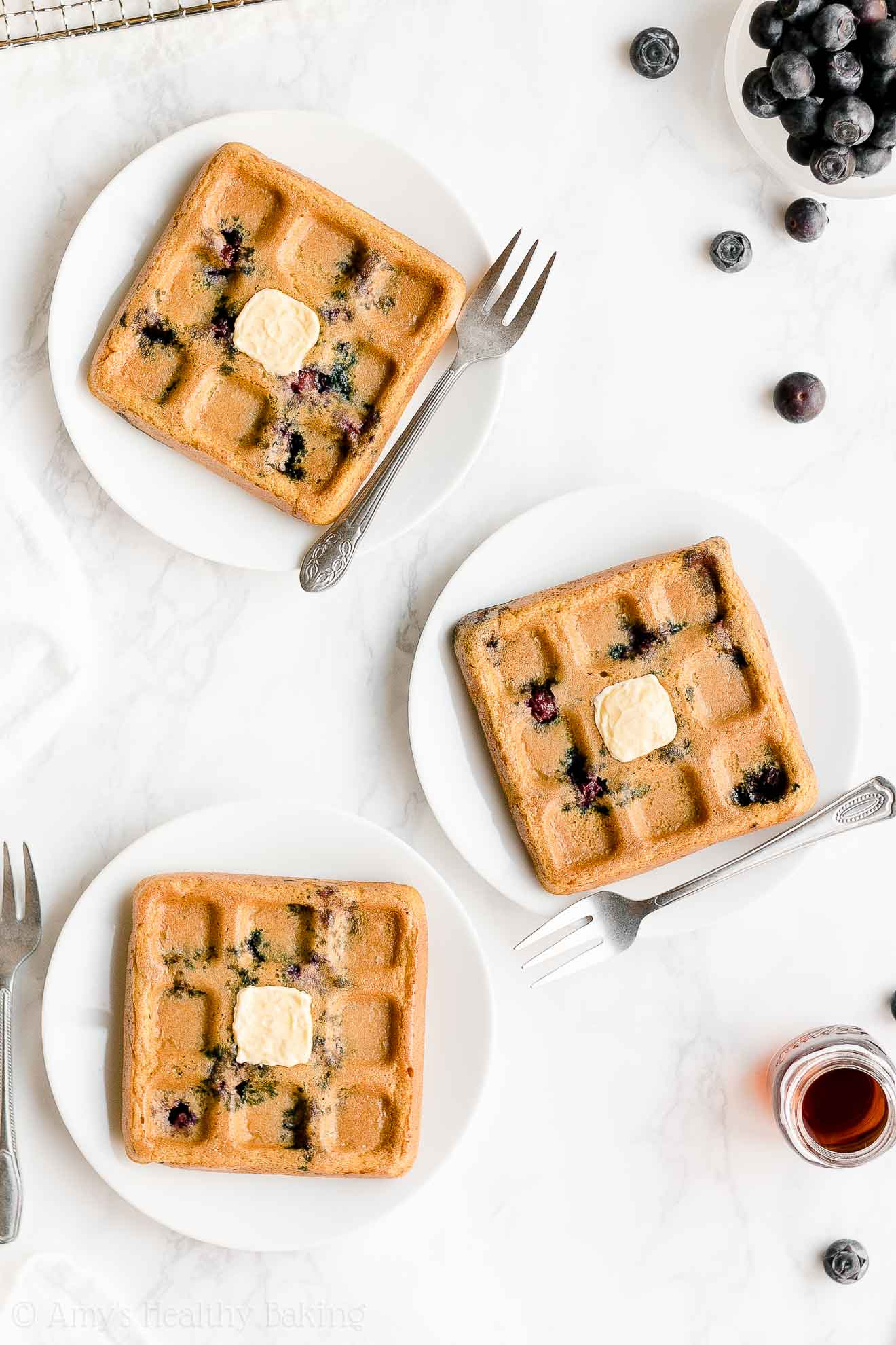 Best Easy Healthy Whole Wheat Greek Yogurt Blueberry Waffles