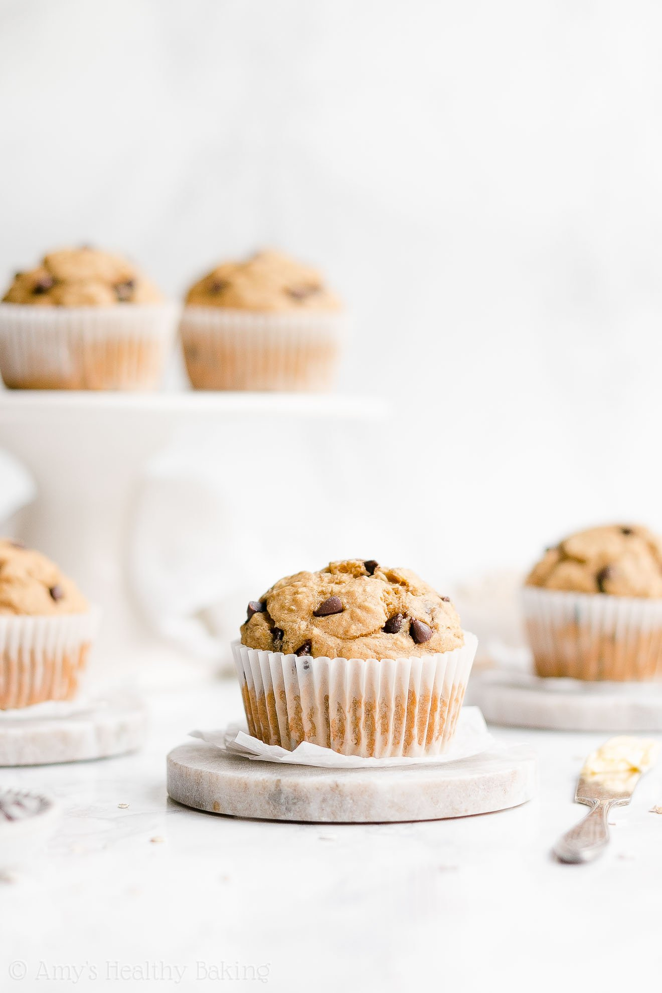 Best Healthy Super Moist Greek Yogurt Banana Chocolate Chip Oatmeal Muffins