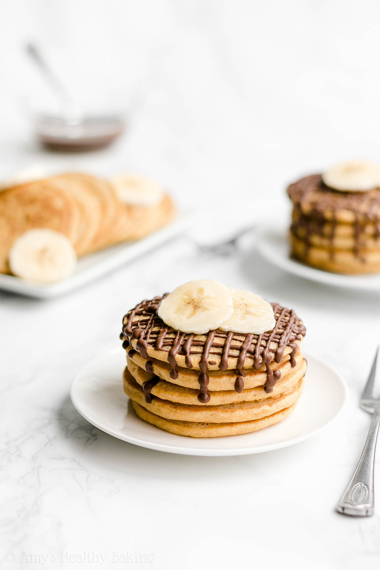 Best Simple Healthy Gluten Free Low Sugar Fluffy Banana Pancakes