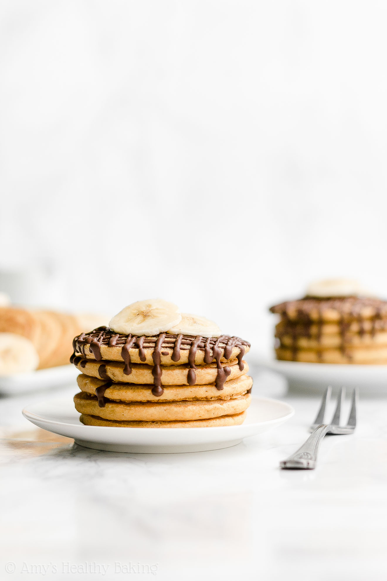Best Easy Healthy Fluffy Clean Eating Banana Pancakes