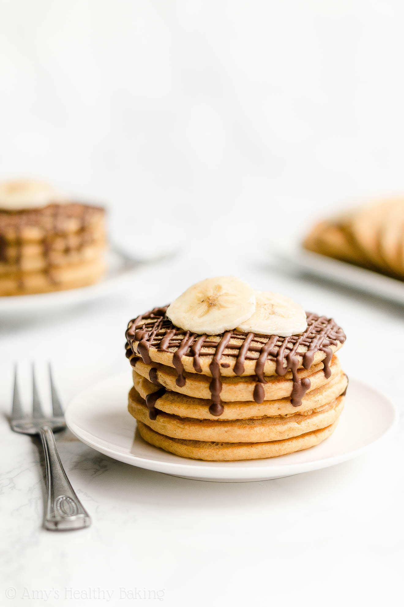 Best Easy Healthy Fluffy Low Calorie Banana Pancakes with Weight Watchers Points