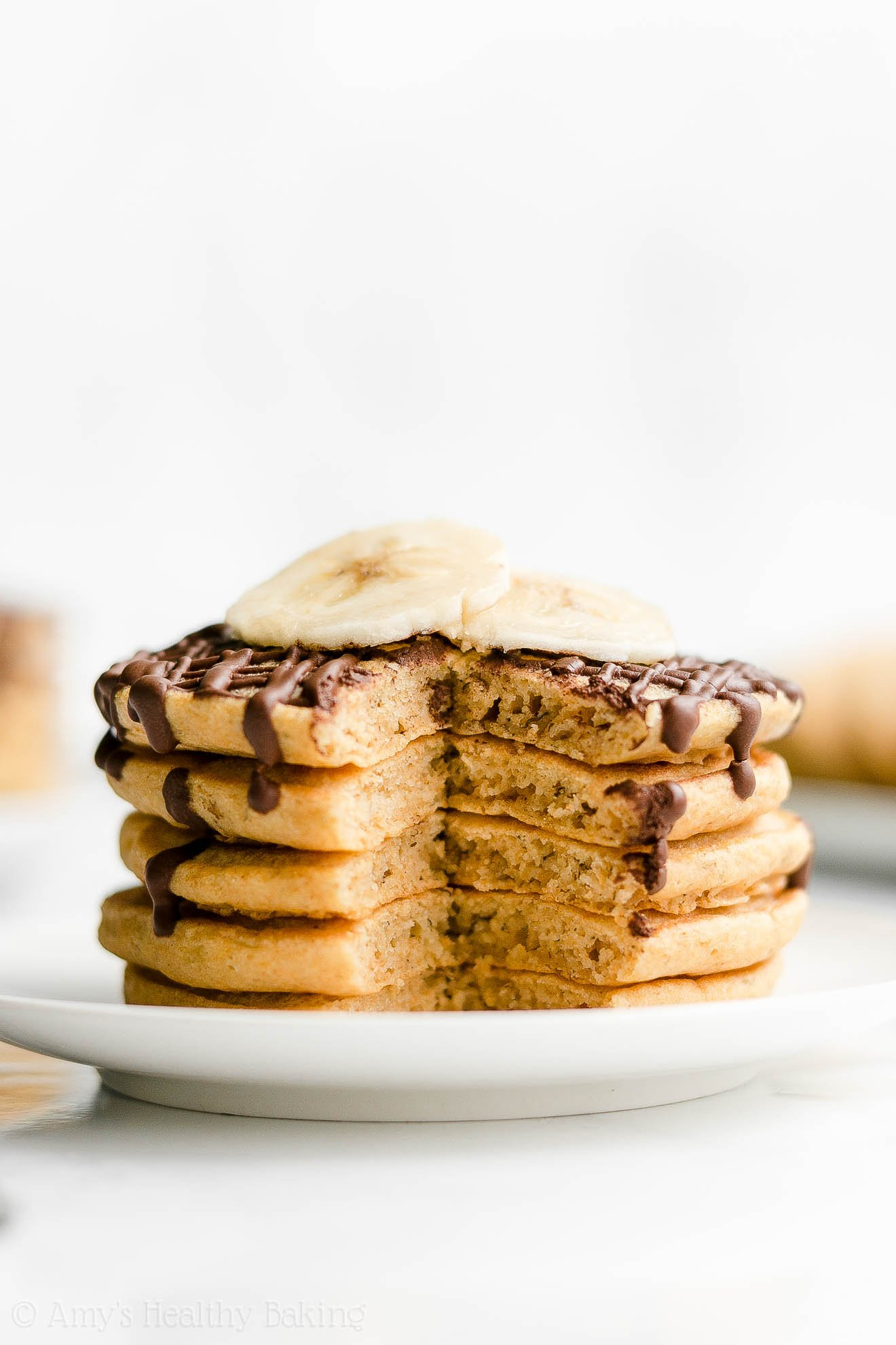 Best Easy Healthy Clean Eating Whole Wheat Fluffy Banana Pancakes