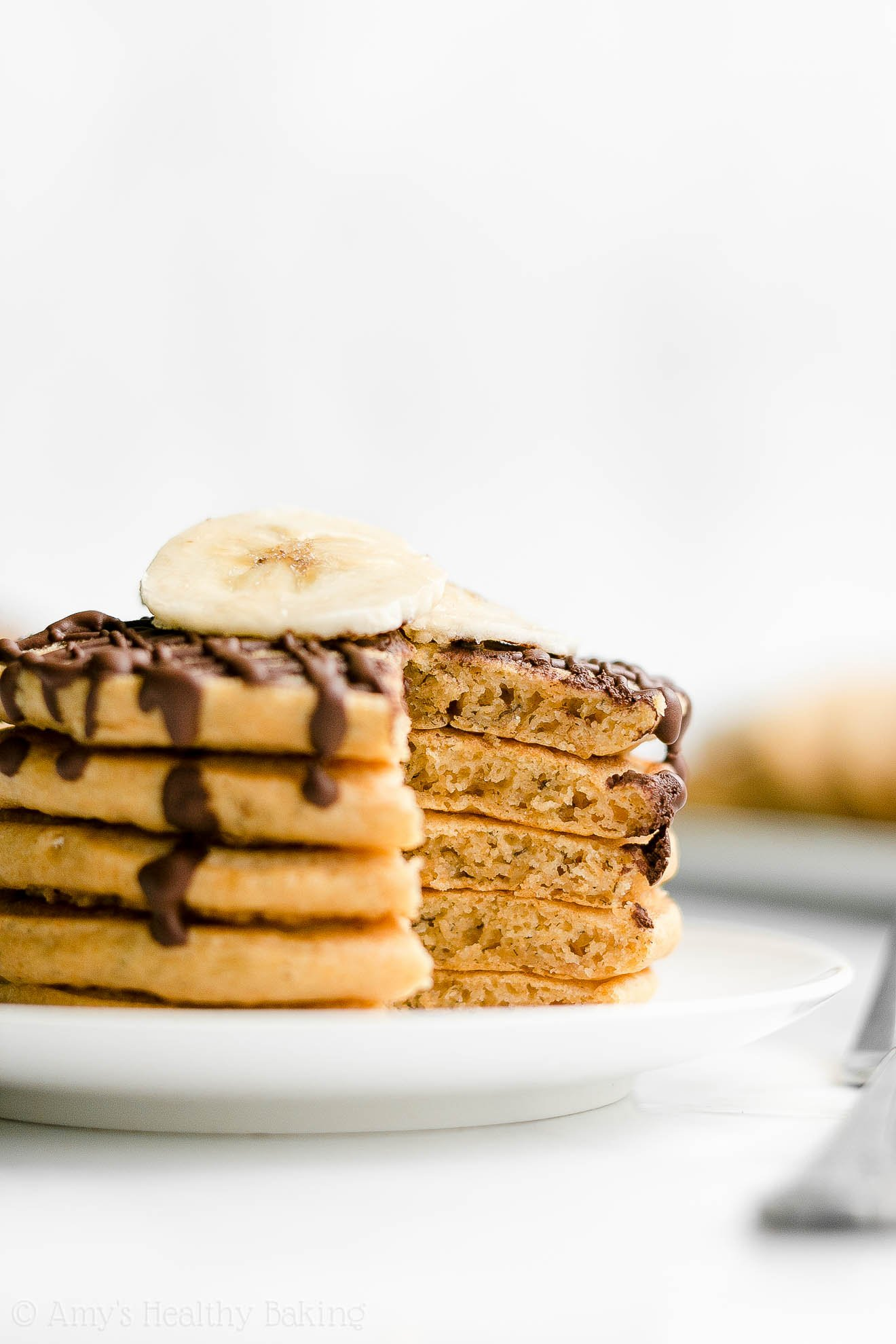 Best Easy Healthy Low Sugar Whole Wheat Fluffy Banana Pancakes