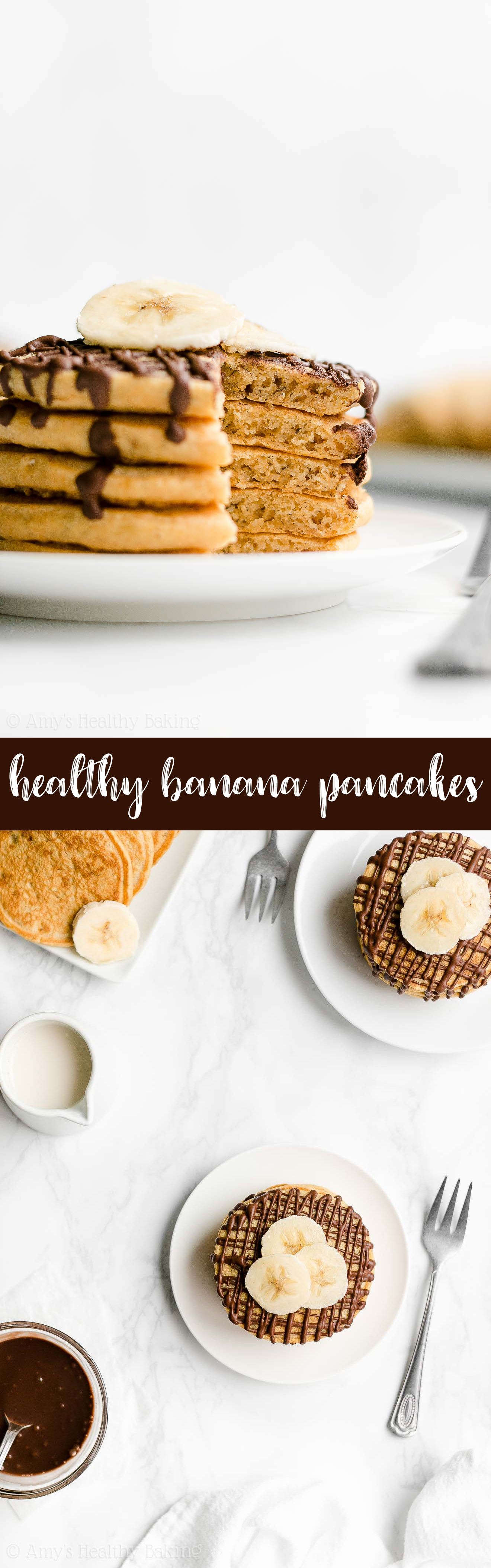 Best Ever Easy Healthy Clean Eating Low Calorie Fluffy Banana Pancakes