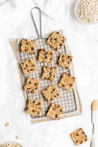 Healthy Chocolate Chip Peanut Butter Granola Bar Bites