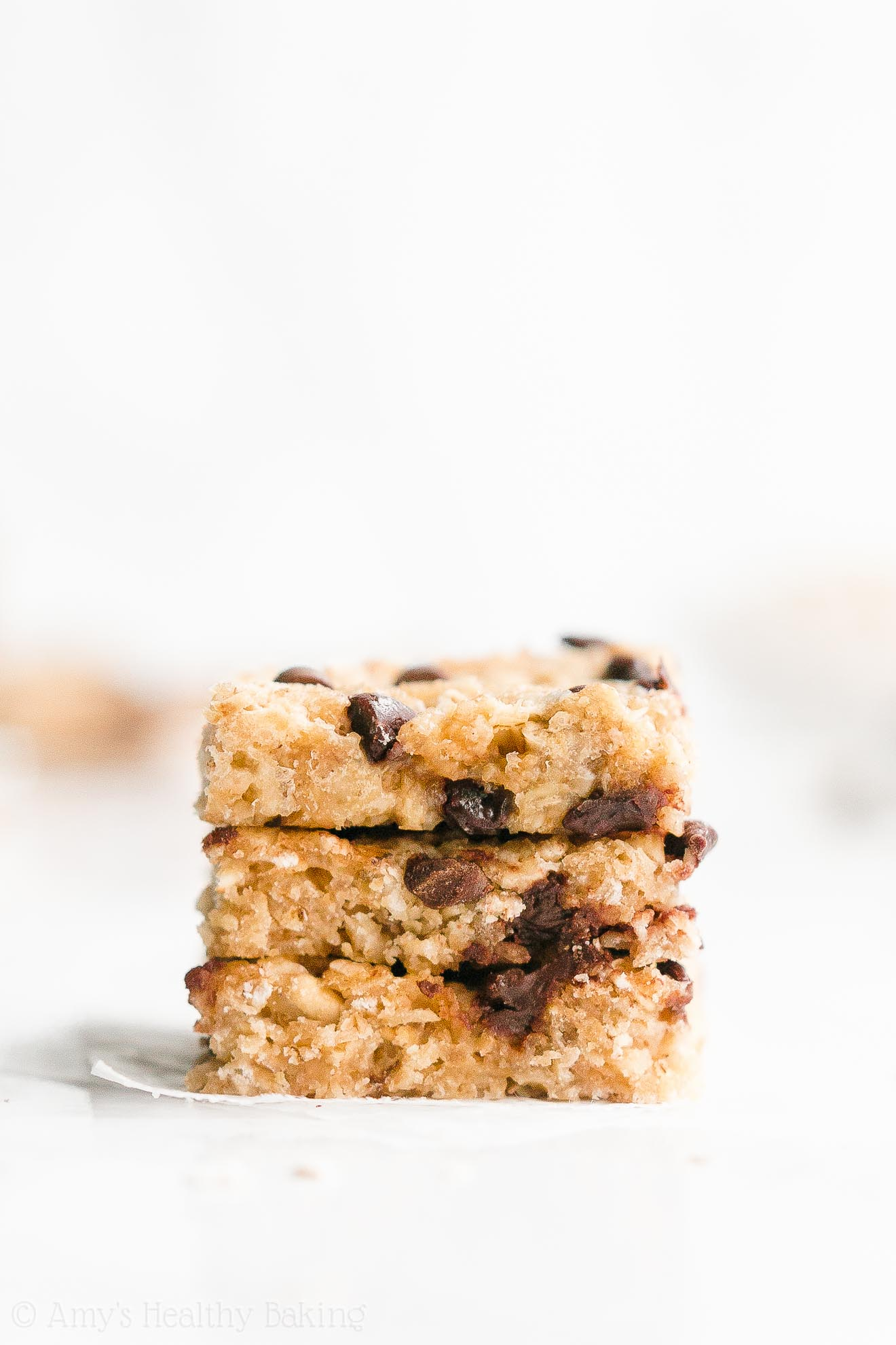 Easy Healthy Low Calorie Low Sugar Chocolate Chip Peanut Butter Granola Bars