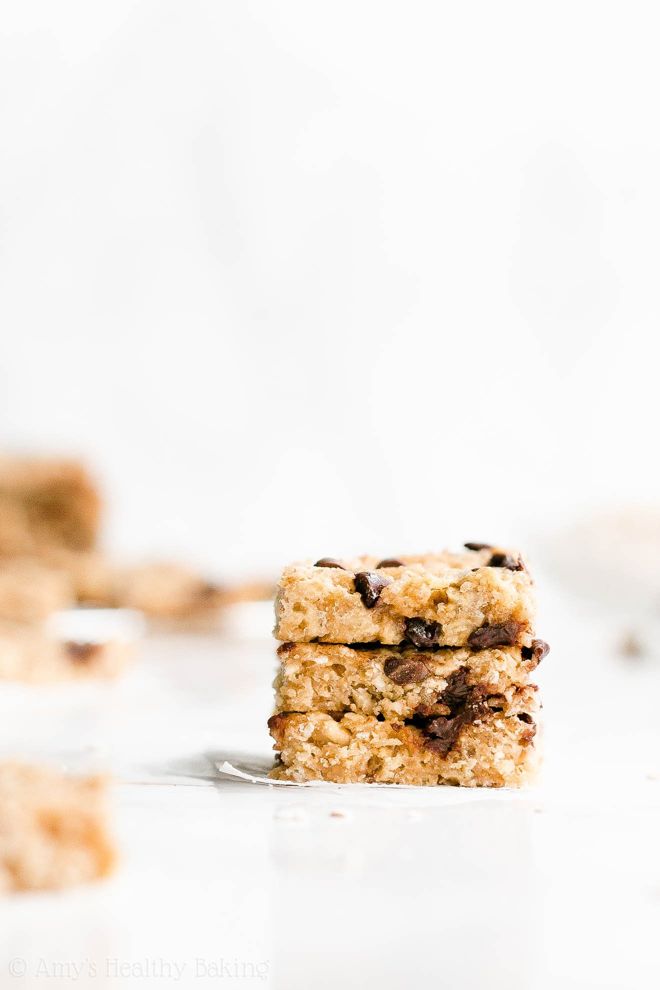 Easy Healthy Weight Watchers Low Fat Chocolate Chip Peanut Butter Granola Bars