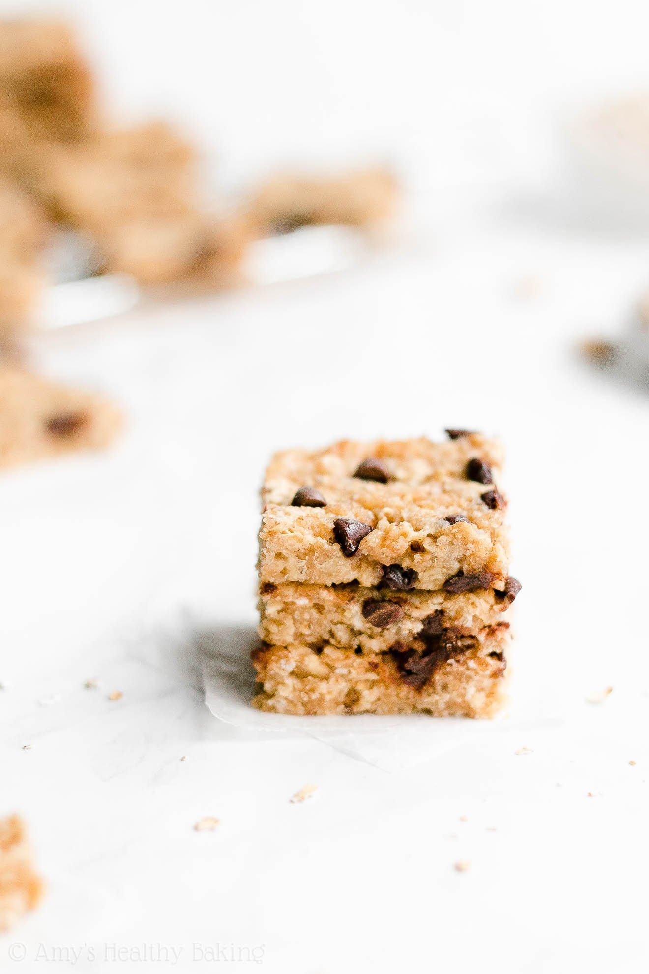 Easy Healthy Homemade Honey Oats Chocolate Chip Peanut Butter Granola Bars