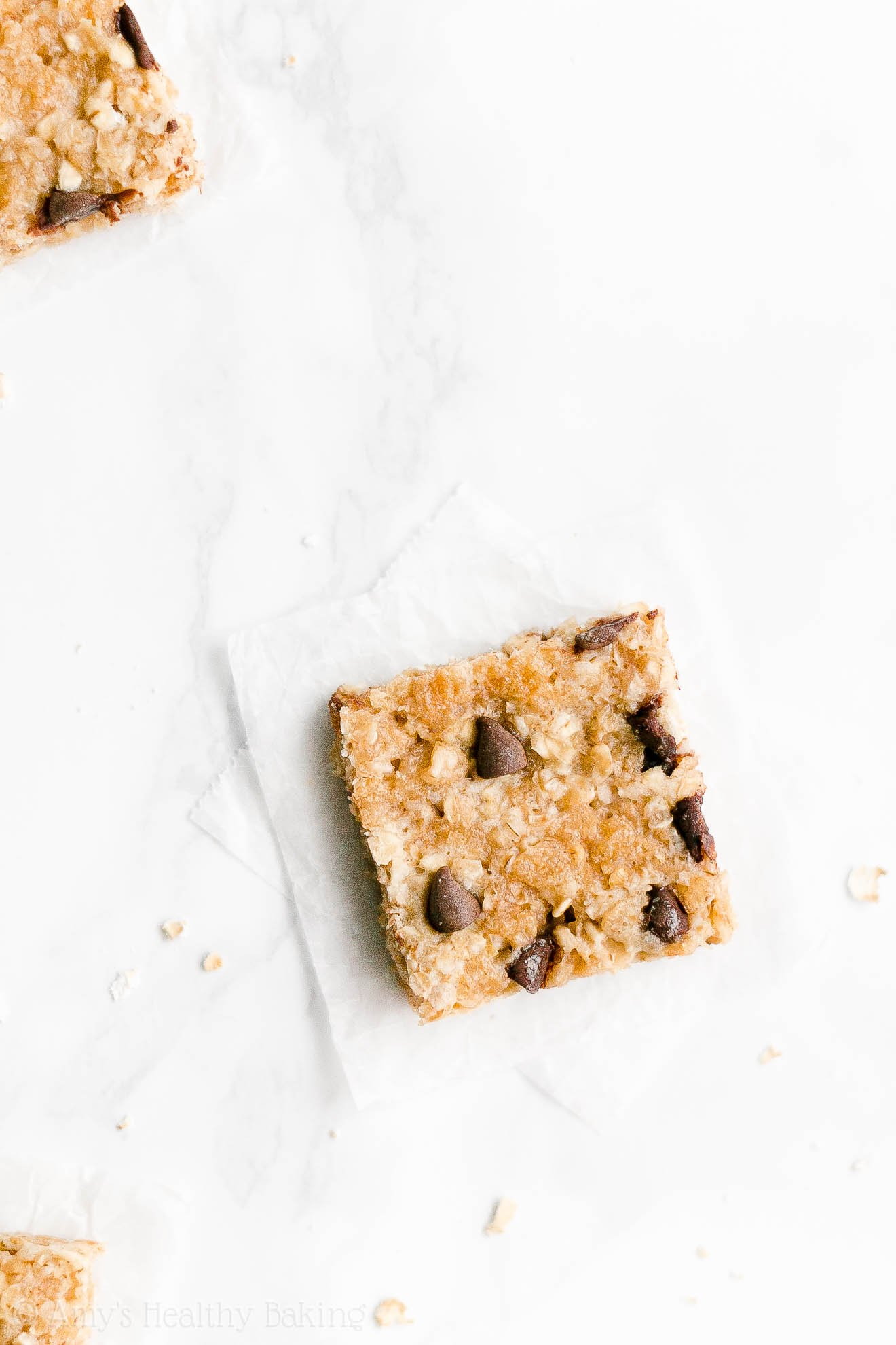 Easy Healthy Chewy Low Sugar Chocolate Chip Peanut Butter Granola Bars