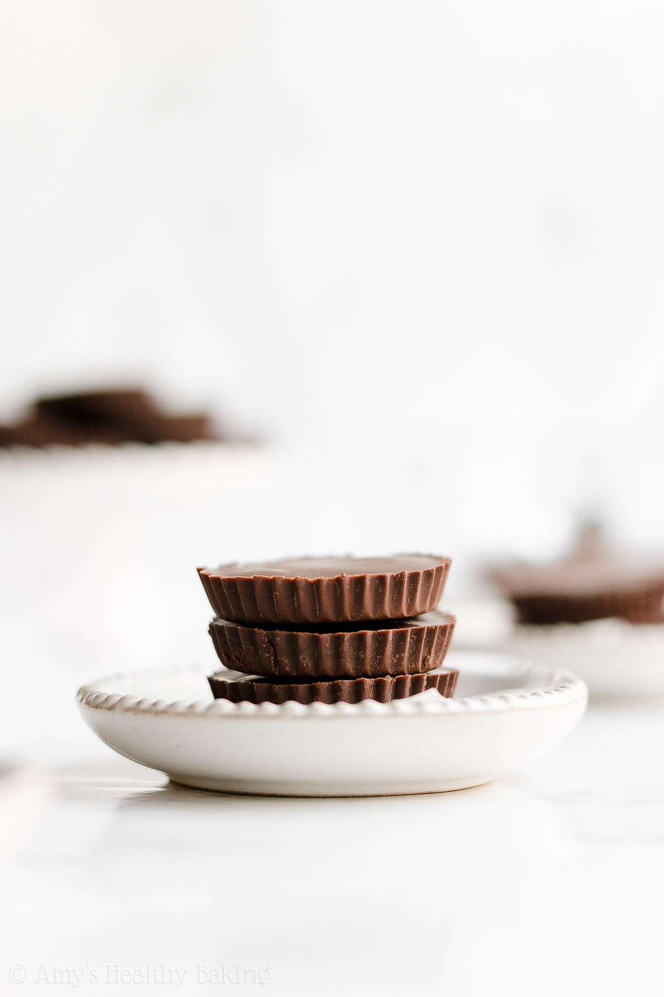 Healthy Double Dark Chocolate Peanut Butter Cups with Weight Watchers Points