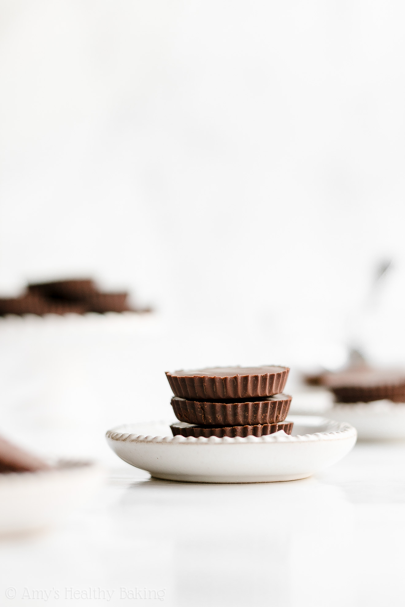 Simple Healthy Gluten Free Low Sugar Double Dark Chocolate Peanut Butter Cups