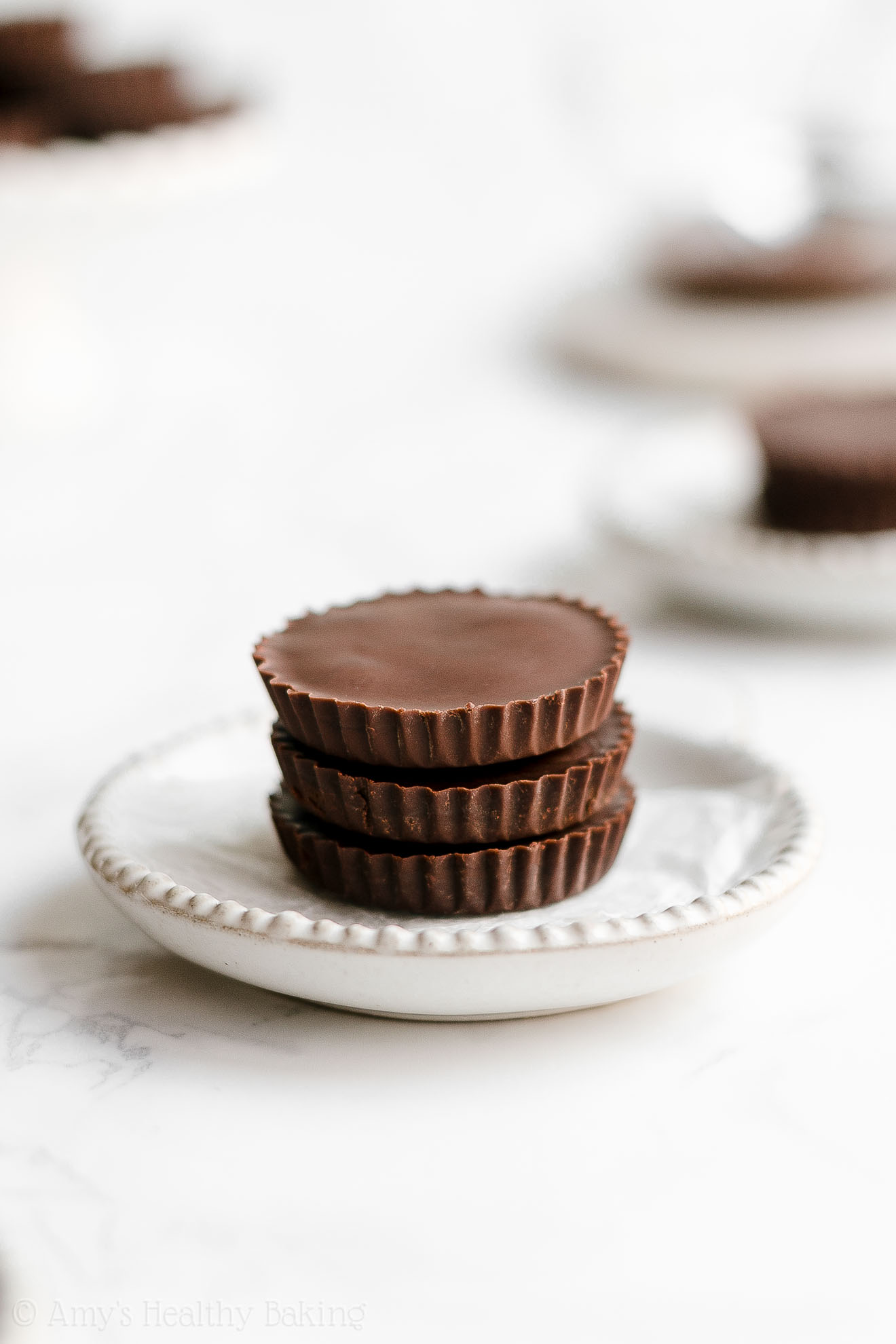 Easy Healthy Vegan Dairy Free Double Dark Chocolate Peanut Butter Cups