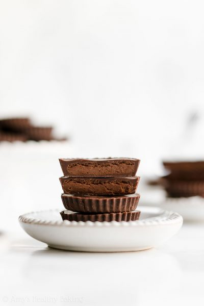 Healthy Double Dark Chocolate Peanut Butter Cups