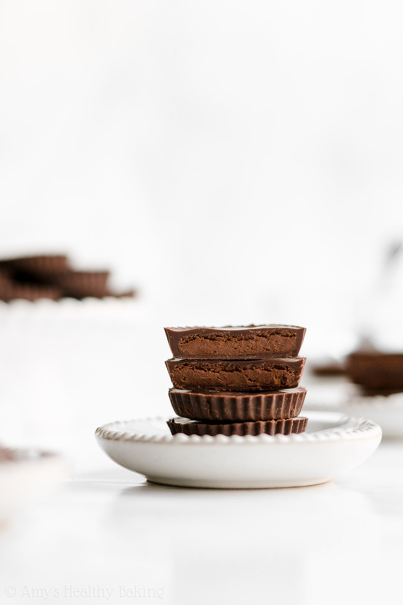 Healthy Vegan Dairy Free Low Carb Double Dark Chocolate Peanut Butter Cups