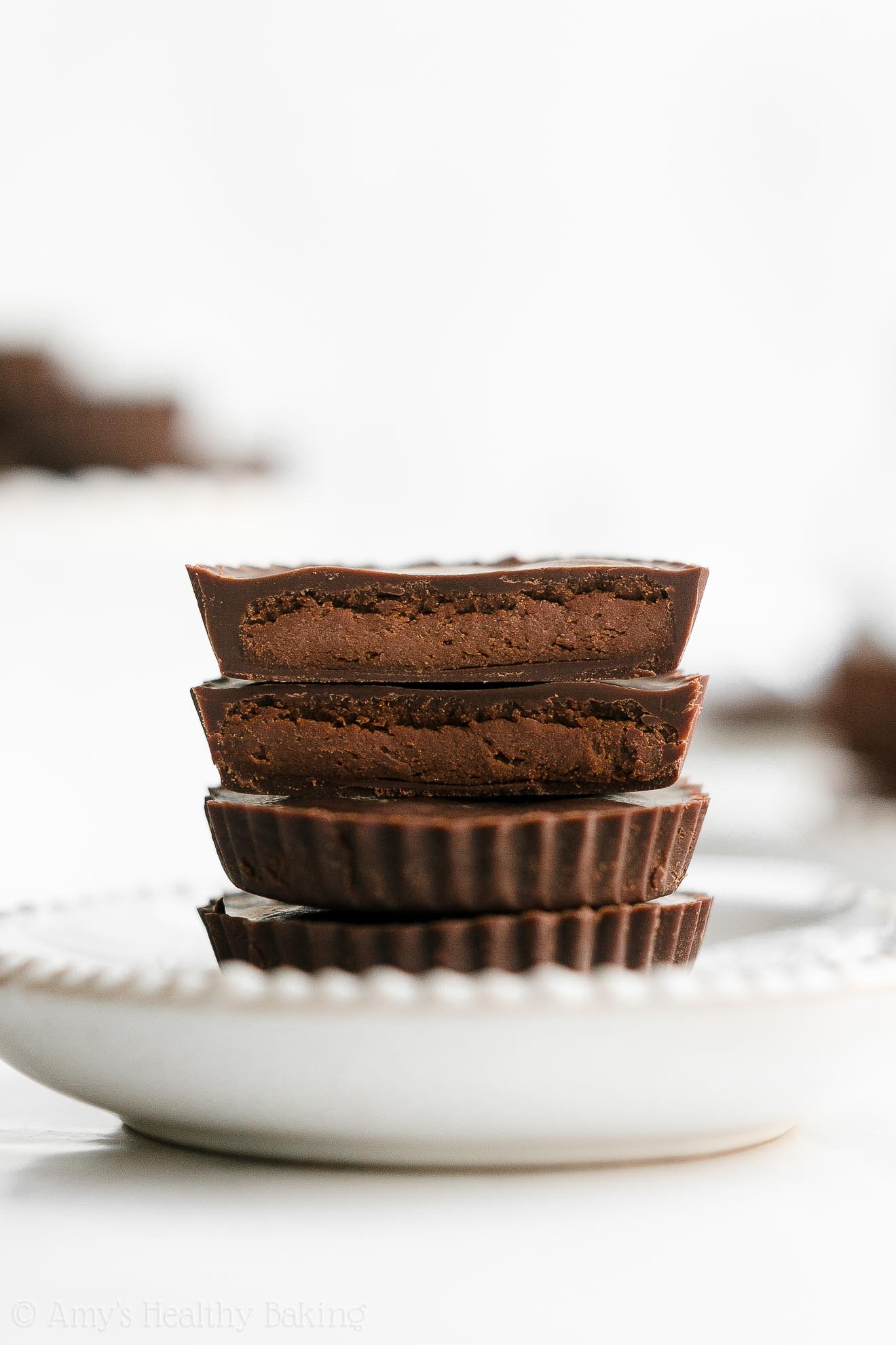 Healthy Homemade Low Carb Sugar Free Dark Chocolate Peanut Butter Cups