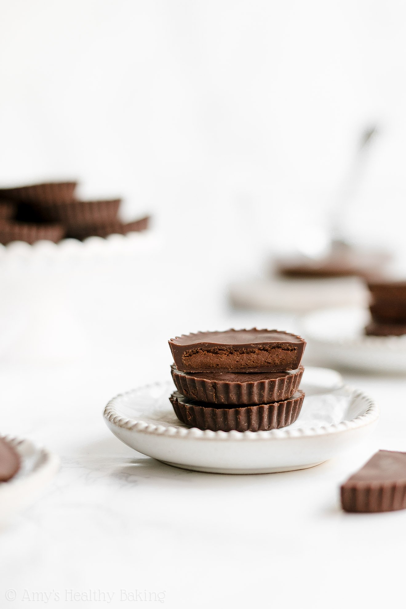 Easy Healthy Clean Eating Low Carb Double Dark Chocolate Peanut Butter Cups