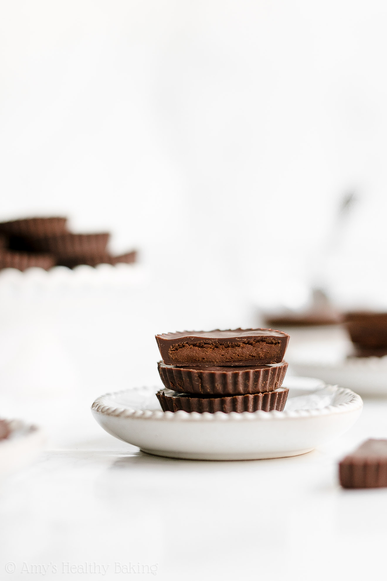 Easy Healthy Homemade Double Dark Chocolate Protein Peanut Butter Cups