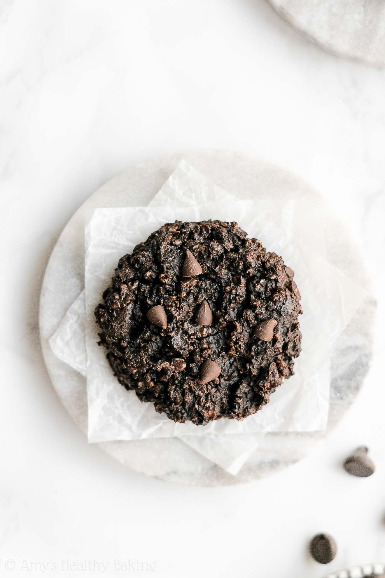 Easy Healthy Chewy Gluten Free Flourless Double Chocolate Oatmeal Cookies